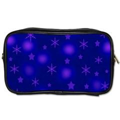 Blue Xmas design Toiletries Bags 2-Side