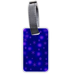 Blue Xmas design Luggage Tags (Two Sides)