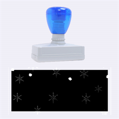 Blue Xmas design Rubber Stamps (Large)