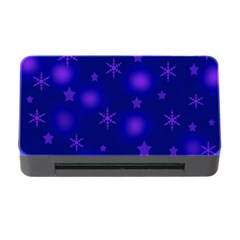 Blue Xmas design Memory Card Reader with CF
