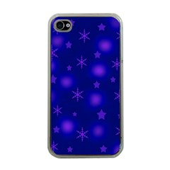 Blue Xmas design Apple iPhone 4 Case (Clear)