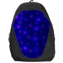Blue Xmas design Backpack Bag