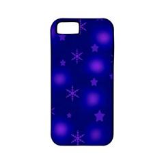 Blue Xmas design Apple iPhone 5 Classic Hardshell Case (PC+Silicone)