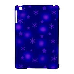 Blue Xmas design Apple iPad Mini Hardshell Case (Compatible with Smart Cover)