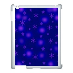 Blue Xmas design Apple iPad 3/4 Case (White)