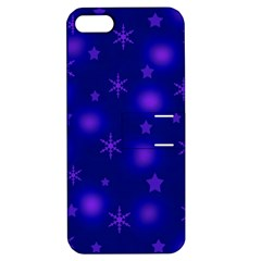 Blue Xmas design Apple iPhone 5 Hardshell Case with Stand