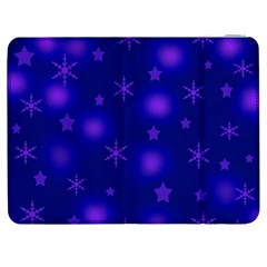 Blue Xmas design Samsung Galaxy Tab 7  P1000 Flip Case