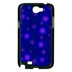 Blue Xmas design Samsung Galaxy Note 2 Case (Black)