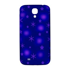 Blue Xmas design Samsung Galaxy S4 I9500/I9505  Hardshell Back Case