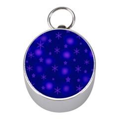 Blue Xmas design Mini Silver Compasses