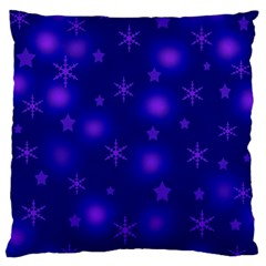 Blue Xmas design Standard Flano Cushion Case (Two Sides)