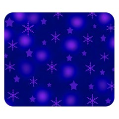 Blue Xmas design Double Sided Flano Blanket (Small)