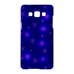 Blue Xmas design Samsung Galaxy A5 Hardshell Case