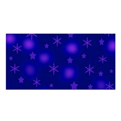 Blue Xmas design Satin Shawl