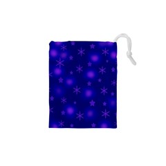 Blue Xmas design Drawstring Pouches (XS)