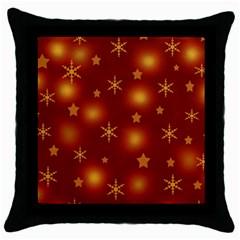 Xmas design Throw Pillow Case (Black)