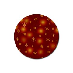 Xmas design Rubber Round Coaster (4 pack)