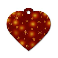 Xmas design Dog Tag Heart (Two Sides)