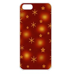 Xmas design Apple iPhone 5 Seamless Case (White)