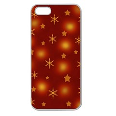Xmas design Apple Seamless iPhone 5 Case (Clear)