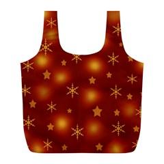 Xmas design Full Print Recycle Bags (L)