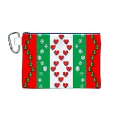 Ugly Holiday Christmas Pattern Canvas Cosmetic Bag (M)