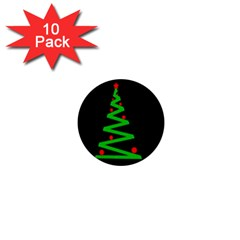 Simple Xmas tree 1  Mini Buttons (10 pack)