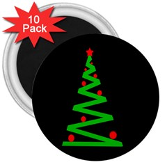 Simple Xmas tree 3  Magnets (10 pack)