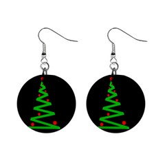 Simple Xmas tree Mini Button Earrings