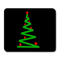 Simple Xmas tree Large Mousepads
