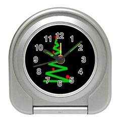 Simple Xmas tree Travel Alarm Clocks