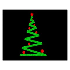Simple Xmas tree Rectangular Jigsaw Puzzl