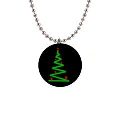 Simple Xmas tree Button Necklaces