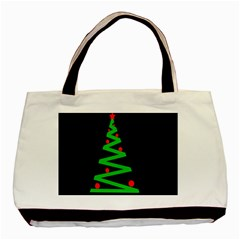 Simple Xmas tree Basic Tote Bag