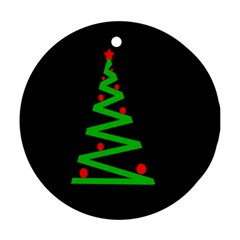 Simple Xmas tree Round Ornament (Two Sides)