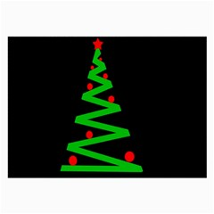 Simple Xmas tree Large Glasses Cloth