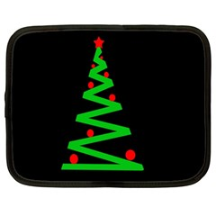Simple Xmas tree Netbook Case (XL)