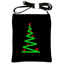Simple Xmas tree Shoulder Sling Bags