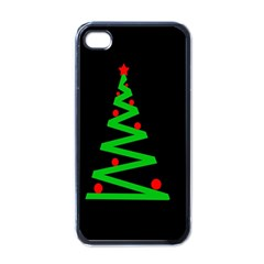 Simple Xmas tree Apple iPhone 4 Case (Black)
