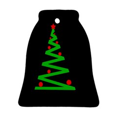 Simple Xmas tree Bell Ornament (2 Sides)