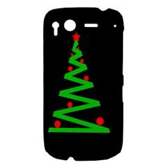 Simple Xmas tree HTC Desire S Hardshell Case
