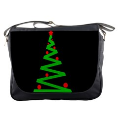 Simple Xmas tree Messenger Bags