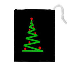 Simple Xmas tree Drawstring Pouches (Extra Large)