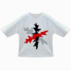 Gray, red and black shape Infant/Toddler T-Shirts