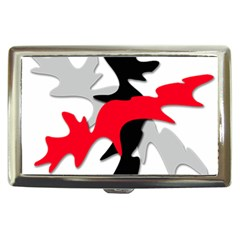 Gray, red and black shape Cigarette Money Cases