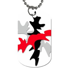Gray, red and black shape Dog Tag (Two Sides)