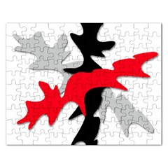 Gray, red and black shape Rectangular Jigsaw Puzzl