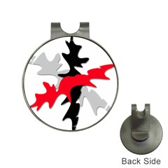 Gray, red and black shape Hat Clips with Golf Markers