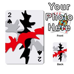 Gray, red and black shape Playing Cards 54 Designs