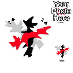Gray, red and black shape Playing Cards 54 (Heart)